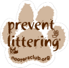 NOOTERS CLUB paw print vehicle magnet