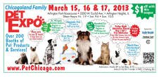 $1 off admission to the ChicagoLand Family Pet Expo!