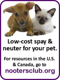 Nooters Club directory of low-cost spay and neuter resources